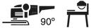 Amoladora angular 90° + Fija